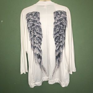 Angel Wings Kimono Cardigan Size Small (Oversized)